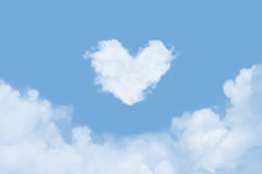 Heart in the Clouds Royalty Free Stock Image