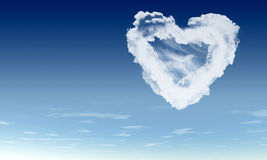 Heart from clouds Royalty Free Stock Photo