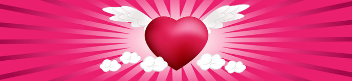 Heart on the Clouds Royalty Free Stock Images