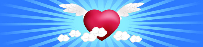 Heart on the Clouds Stock Photo