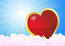 Heart clouds Stock Photography