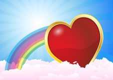 Heart clouds Stock Photo