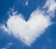 Heart of clouds Stock Photo