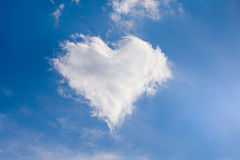 Heart of clouds. Symbol of love Stock Photo