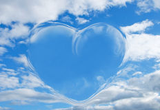 Heart in clouds Stock Photo
