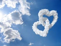Heart and clouds Stock Image