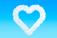 Heart from clouds Royalty Free Stock Image