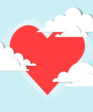 Heart in the clouds Stock Photography