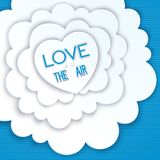 Heart in the clouds, love is in the air Royalty Free Stock Photography