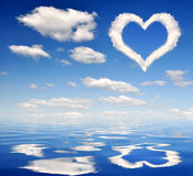 Heart from clouds Stock Photos