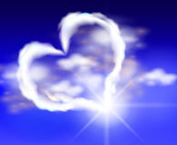 Heart of clouds in the sky Royalty Free Stock Image
