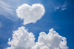 Heart clouds. The symbol of love stock illustration