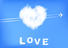 Heart of clouds Royalty Free Stock Photography