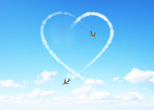 Heart clouds valentine's day concept Stock Images