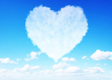 Heart clouds valentine's day concept Stock Photography