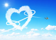 Heart clouds valentine's day concept Royalty Free Stock Photo