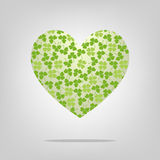 Heart with clover pattern. For design Royalty Free Stock Photos