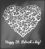 Heart of clovers Royalty Free Stock Images