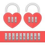 Heart code lock vector. Stock Photos