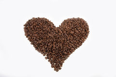 Heart from coffee Royalty Free Stock Photos