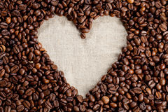 Heart of Coffee. A heart of coffee beans Royalty Free Stock Images