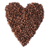 Heart with coffee beans Stock Photo