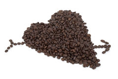 Heart Coffee Beans Royalty Free Stock Images