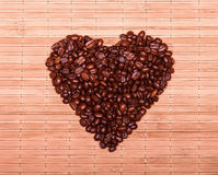 Heart of the coffee beans Stock Image