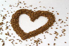 Heart from coffee beans Royalty Free Stock Photography