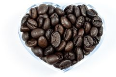 Heart from coffee beans Stock Photo