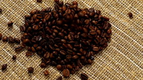 Heart From Coffee Beans stock video footage