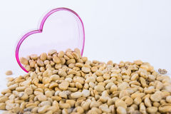 Heart coffee beans Stock Photo