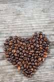 Heart from coffee beans Royalty Free Stock Photo