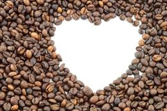 Heart of coffee Royalty Free Stock Photography