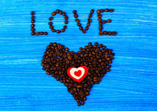 Heart from coffee Stock Photo