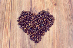 Heart of the coffee Stock Photography