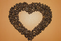 Heart from coffee Stock Photography