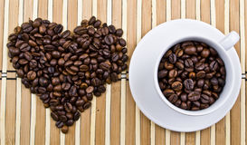Heart of coffee cup Royalty Free Stock Photography