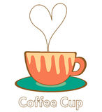 Heart coffee cup Royalty Free Stock Photography