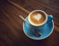 A heart for coffee royalty free stock images