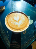 Heart Coffee Foam Royalty Free Stock Photography