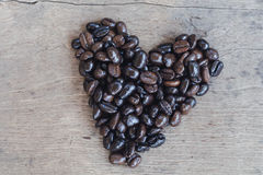 Heart coffee frame made of coffee royalty free stock images