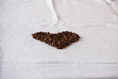 Heart from coffee grains Stock Photo