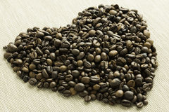 Heart of coffee Stock Images