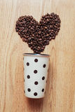 Heart of the coffee in the pot Royalty Free Stock Photo