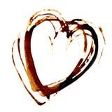 Heart - Coffee stain Stock Photos