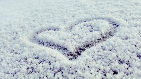 Cold heart dieing royalty free stock photo