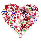 Heart collage Royalty Free Stock Image