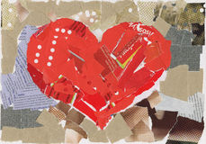 Heart collage royalty free stock photography