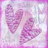 Heart collage artwork Stock Photo